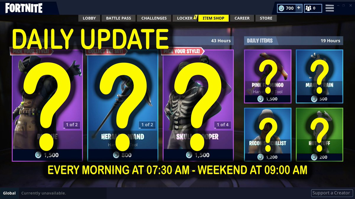 Fortnite S6 - Daily Update - News + Shop 14/10/2018 (EN) #Carver #CryptCruiser #Dailyitems #DailyUpdate #Featureditems #Fortnite #HighlandWarrior #Hollowhead #News #PumpkinPatchSet #Season6 #Shop #SkullRanger #SkullSickle #SkullSquadSet #SkullTrooper #Slo http://www.coppicas.com/en/2018/10/14/fortnite-s6-daily-update-news-shop-14-10-2018-en/ …