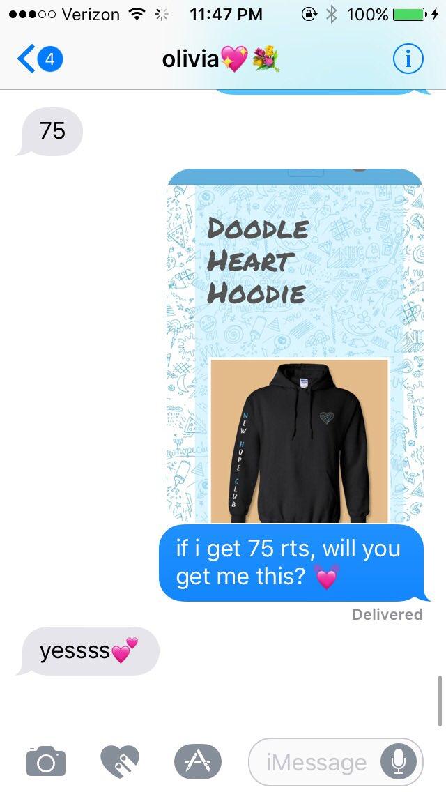 6d6d9e404 if i get 75 rts, liv said she'd get me this! @oliviaaroseeexo @NewHopeClub  @NewHopeBlake @NewHopeReece @NewHopeGeorgepic.twitter.com/88RjxzkDrC
