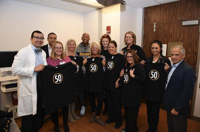 Ryan Shazier visits UCMC before Steelers and Bengals game: #PITvsCIN Photo