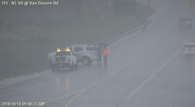 156634: Crash on N3 Southbound after Ramp from Van Buuren  Left lane