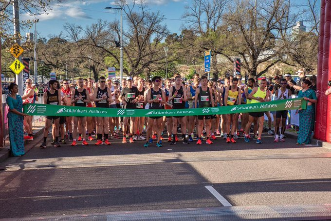 Here are some memorable moments of the #SriLankanAirlines Half Marathon event at @melbmara 2018. This is the second consecutive year that the National Carrier became the title sponsor of the much sought-after race. #MelbourneMarathon Photo