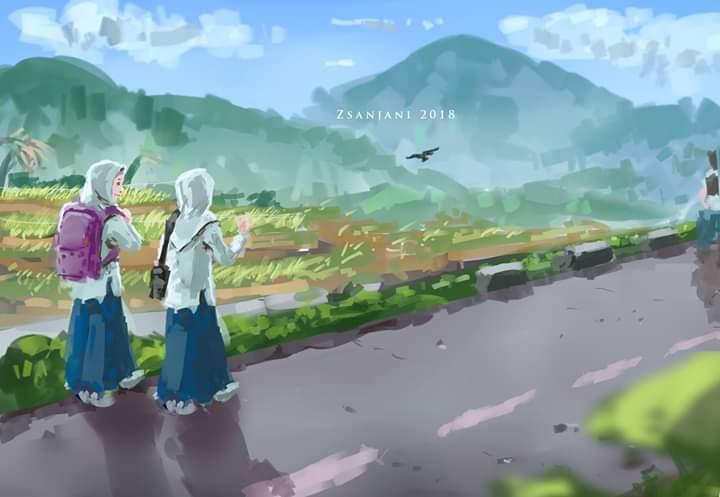 Zsanjani On Twitter Morning Pedesaan Anime