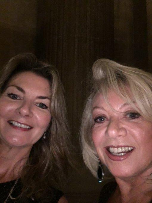 Me and Elaine Paige just before we did our version of 'Typical Girls' by The Slits. Photo
