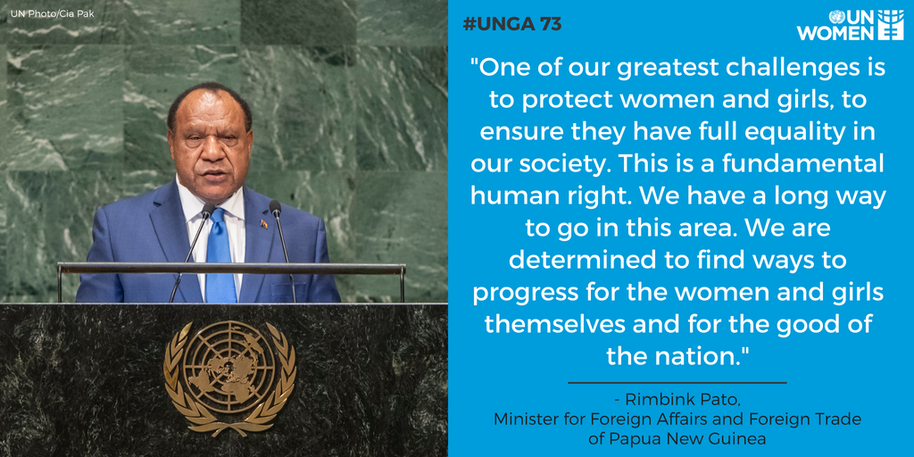 Ways To Progress For The Women And S Themselves Good Of Nation Rimbink Pato Foreign Minister Papua New Guinea At Unga