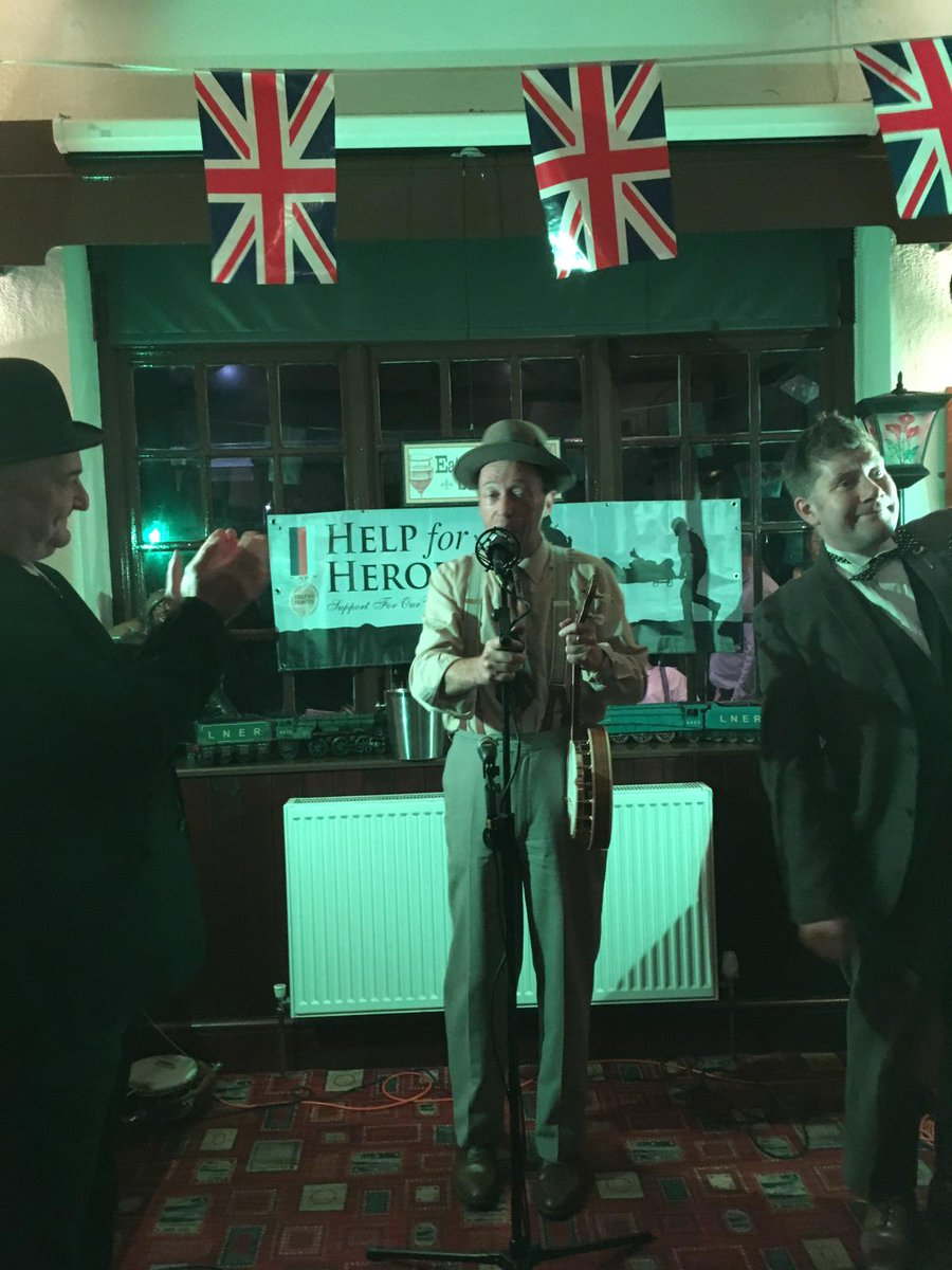 Attended great fundraiser for Help for Heroes in the Railway pub at Handforth last night. Brilliant George Formby and Laurel and Hardy tribute acts. It was just like being in a very joyful time machine, everyone's faces ached from smiling!! #GeorgeFormby #laurelandhardy<br>http://pic.twitter.com/06aB31J1c6