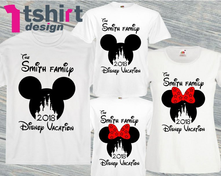 641c0c04e Excited to share the latest addition to my #etsy shop: Custom family  vacation disney shirts. Disneyland family t-shirts. Family Mickey and  Minnie.