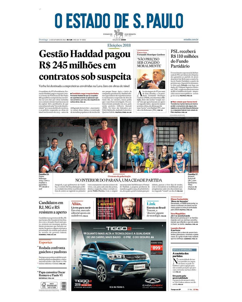 CAPA: Gestão Haddad pagou R$ 245 milhões em contratos sob suspeita https://t.co/tCezDWMk8B