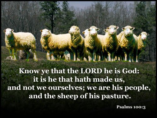 "W.J. Schmitz on Twitter: """"Know ye that the LORD he is God: it is ..."