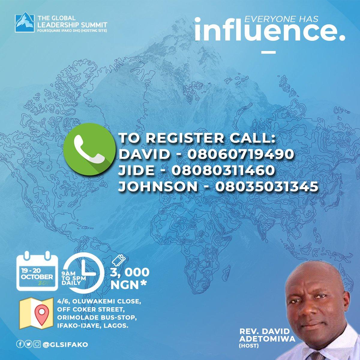 Global Leadership Summit 2018: Foursquare Gospel Church, Ifako DHQ Viewing Center Date: 19th - 20th Oct. 2018 Host: Rev. David Adetomiwa Venue: 4/6, Oluwakemi Close, Off Coker Street, Orimolade Bus-Stop, Ifako-Ijaye, Lagos  @wcagls #WCGLS #GLS18 #GLSNIG #FGCNIfako<br>http://pic.twitter.com/RSa4e3NDnj