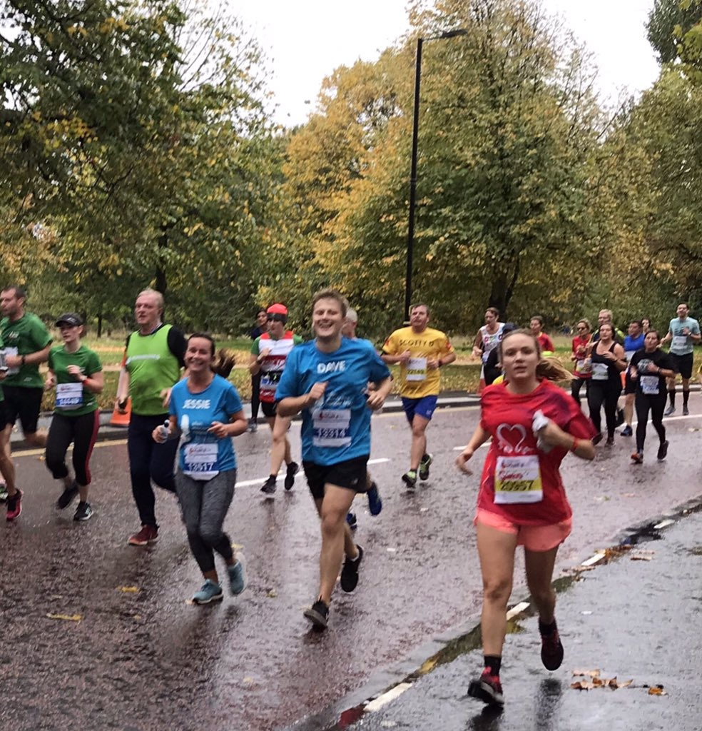 The rain didn't stand in the way of the runners in the @RoyalParksHalf The Trust team smashed it 👏💙🏅👇