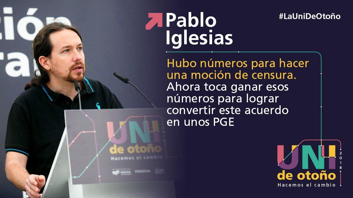 👇 @Pablo_Iglesias_ #LaUniDeOtoño 🚂