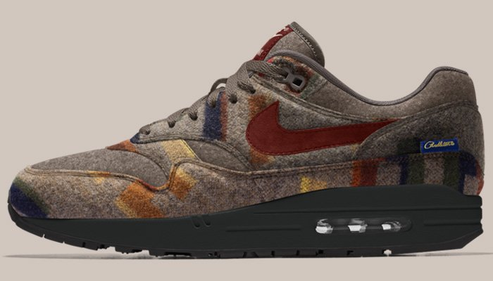 check out 4f228 9ba45 ... custom Pendleton  Wool  x  NIKEiD Air Max 1, there s no time like the  present so you can enjoy your pair this fall winter!