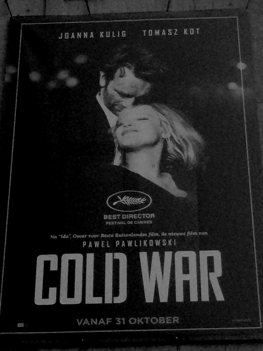 #ColdWar the new movie by #PawelPawlikowski with great Polish actors #TomaszKot and #JoannaKulig will be played in the UK. As well in Belgium (and rest of the Europe). It's one of few on my list for this year.  #Oscars2019 #CannesFestival #FestivalDeCannes #PolishMovies pic.twitter.com/7tCiSHpDri
