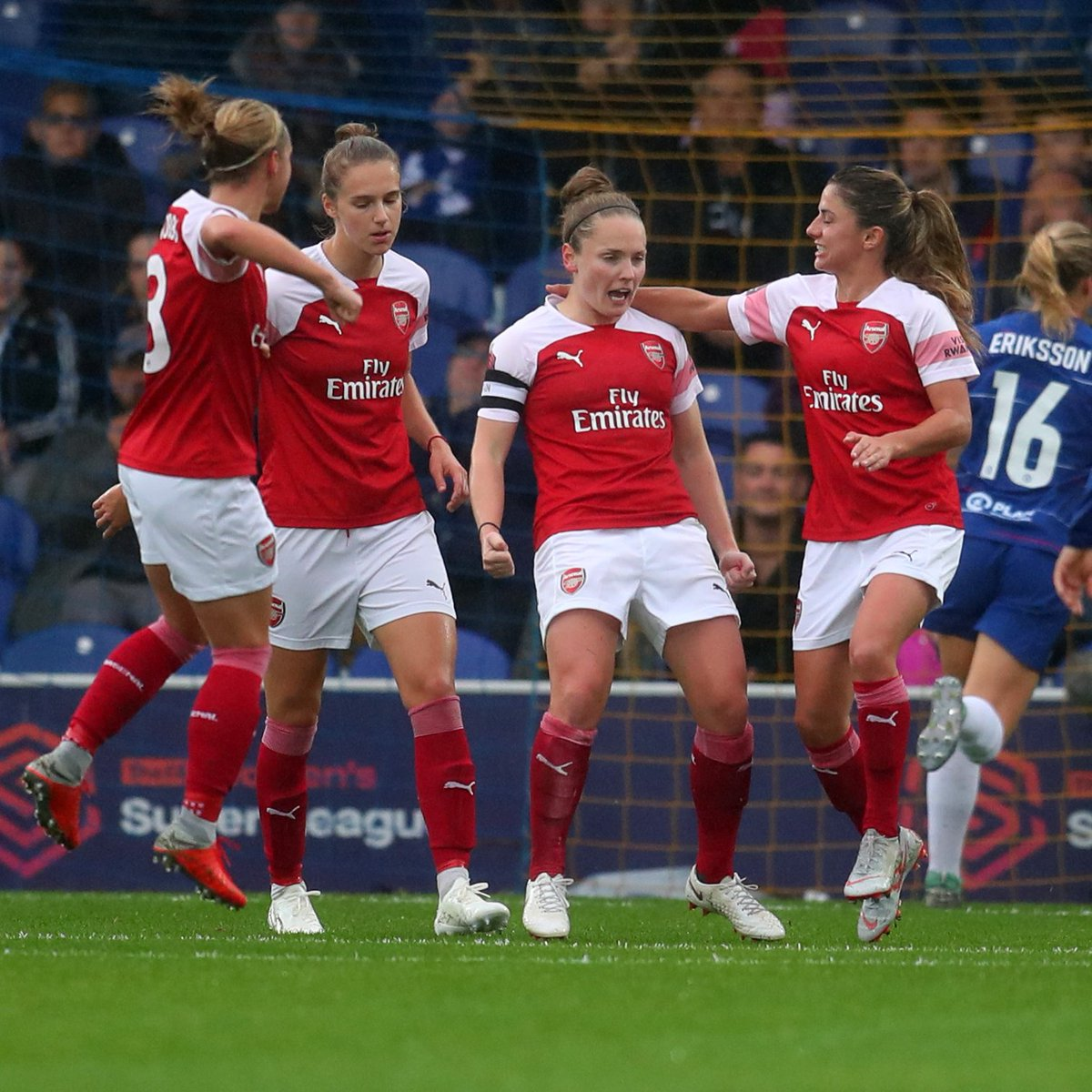 Full-time: Chelsea 0-5 Arsenal   We've maintained our place at the top of the  table thanks to goals from Kim Little,  (2) and  (2) 🔥  COME ON YOU GUNNERS! 👊