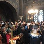 Avec une église comble, à l'ombre du beau bulbe redoré, a été célébré aujourd'hui le 140e anniversaire de la consécration de l'église orthodoxe Sainte Barbara de Vevey. Six prêtres étaient présents.