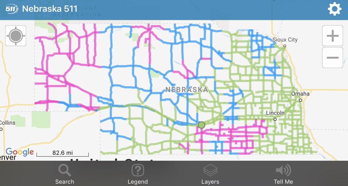 511 nebraska road conditions map Nebraska Dot On Twitter Did You Know There S A Ne511 App 511 nebraska road conditions map