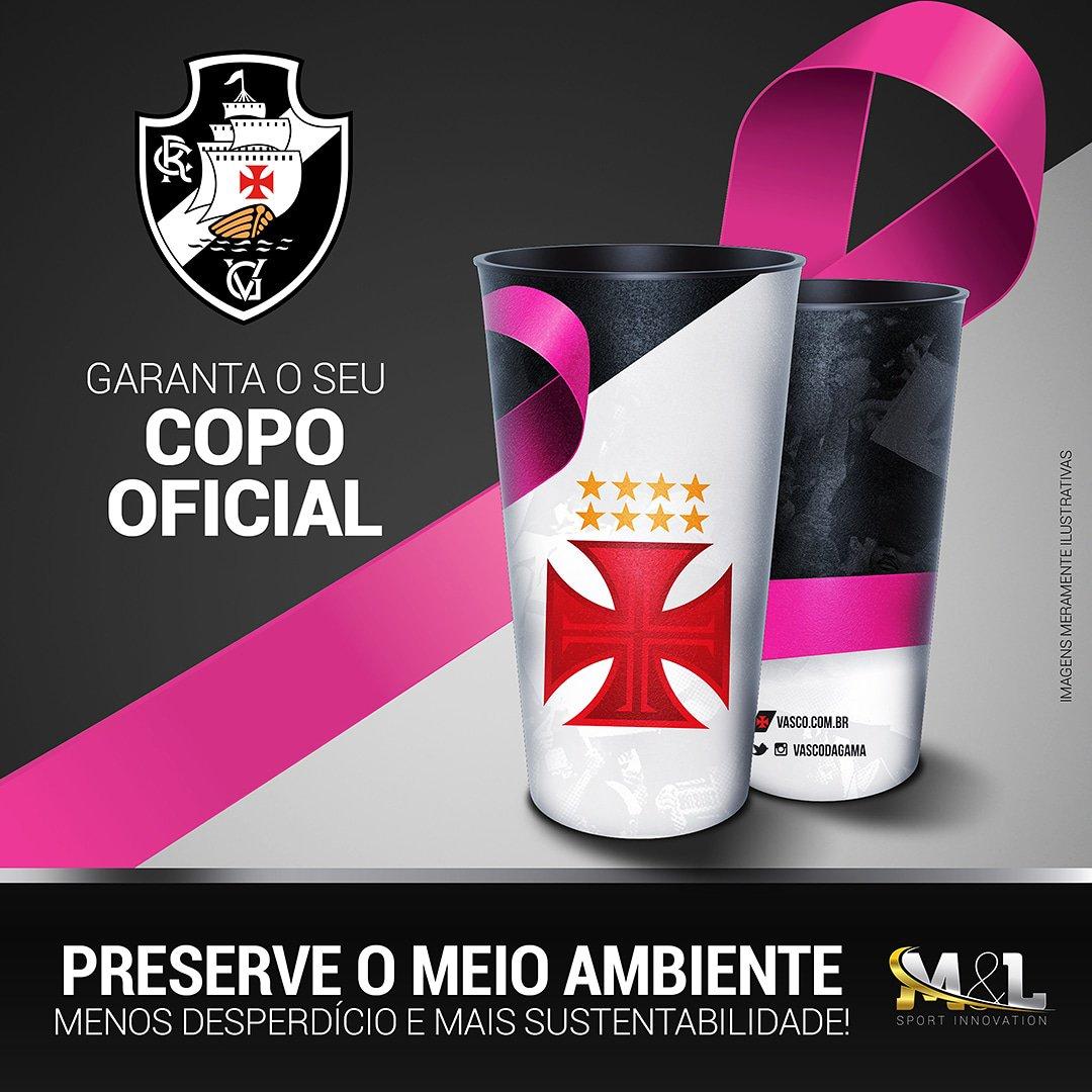 Copo em homenagem ao #OutubroRosa estará a venda hoje em São Januário.  #VascoDaGama