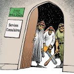 Hospitalité saoudienne - © Chappatte dans Der Spiegel, Allemagne > https://t.co/re7uS3i0eh