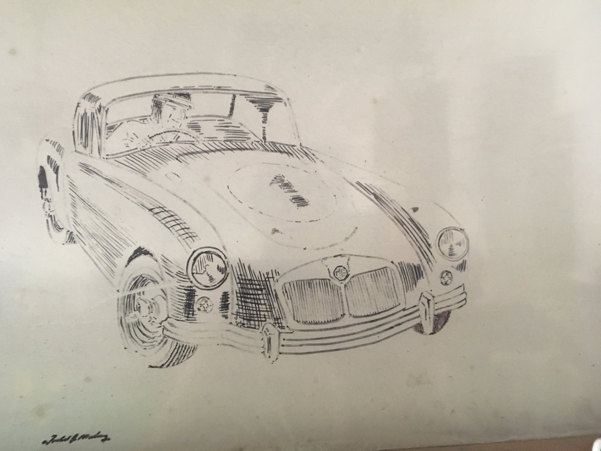 My first try to try to draw a MGA with a Sharpie <br>http://pic.twitter.com/yhX4paUKhr
