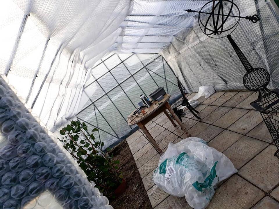 Douentza Garden On Twitter Bubblewred The Greenhouse At Douentzagarden Bubblewrap Insulation Winter Wexford Ireland
