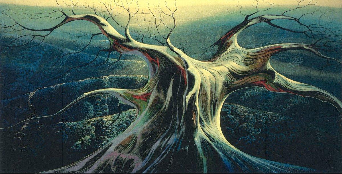 Trees by Eyvind Earle (1916–2000)