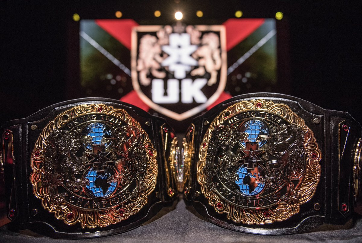 WWE NXT UK Tag Team Titles Officially Revealed (Photo, Video)