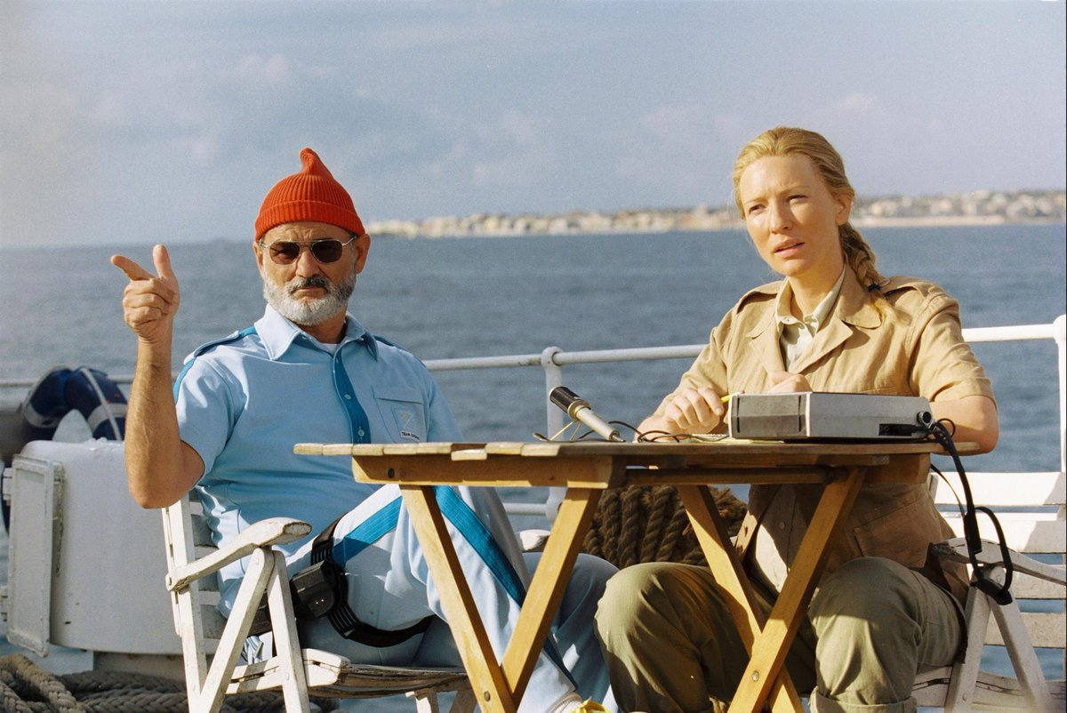 Bill Murray &amp; Cate Blanchett in &quot;The Life Aquatic with Steve Zissou&quot; directed by Wes Anderson, 2004 <br>http://pic.twitter.com/pEeObzjRDA