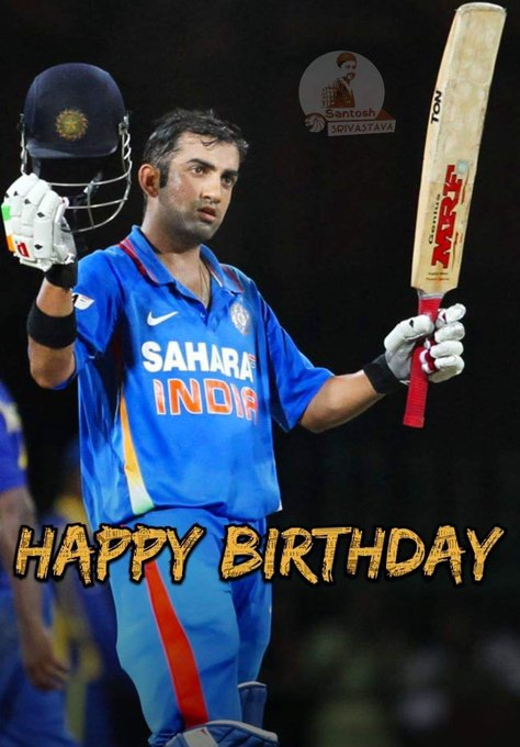 ,                  Happy birthday gautam gambhir sir
