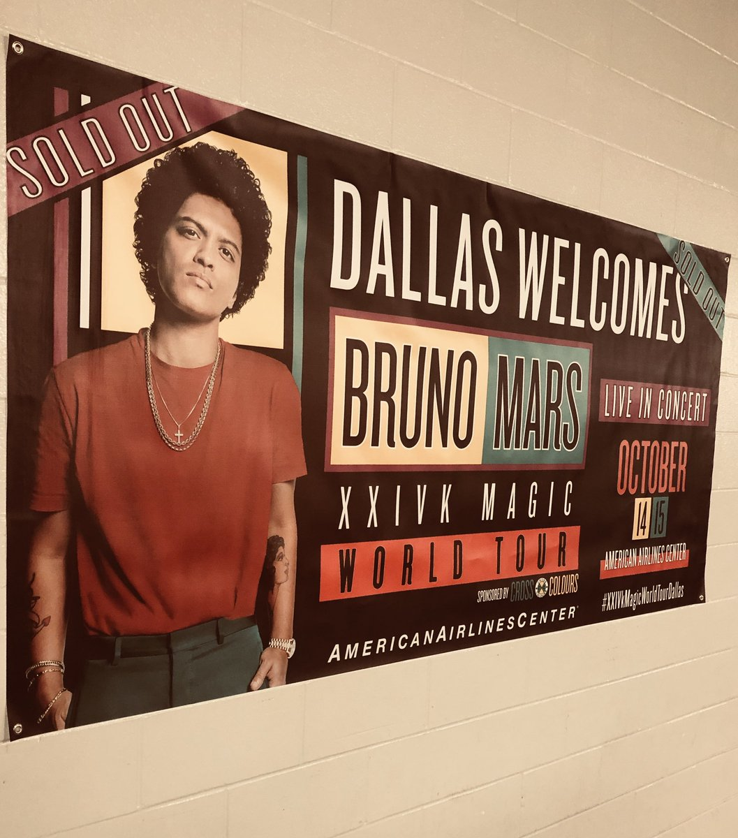 WELCOME @BrunoMars TO DALLAS!!🤩👑🌟🥇
