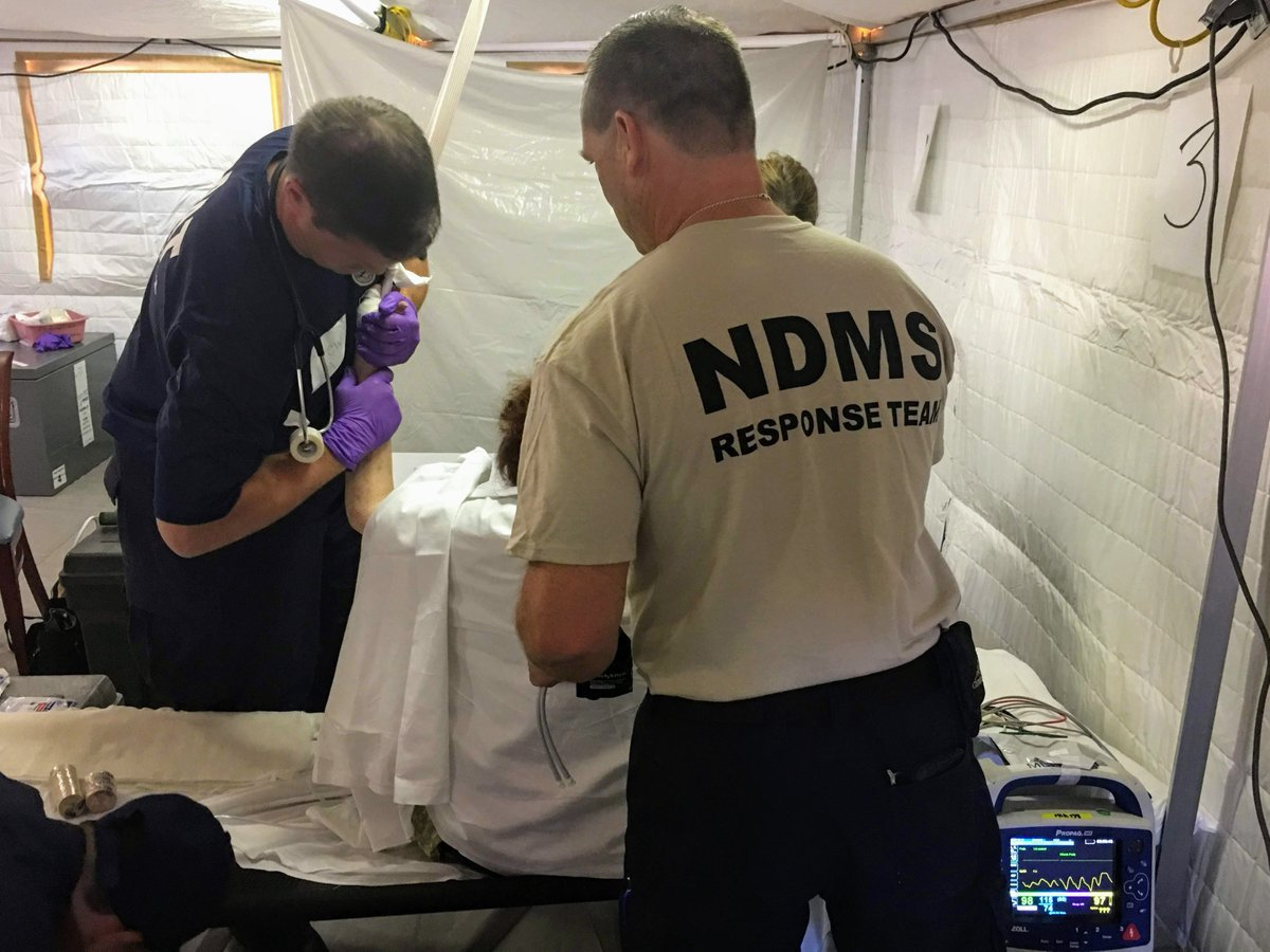 Andrew Maurano A Physician Assistant With National Disaster Medical System Md 1 Dmat Cares For