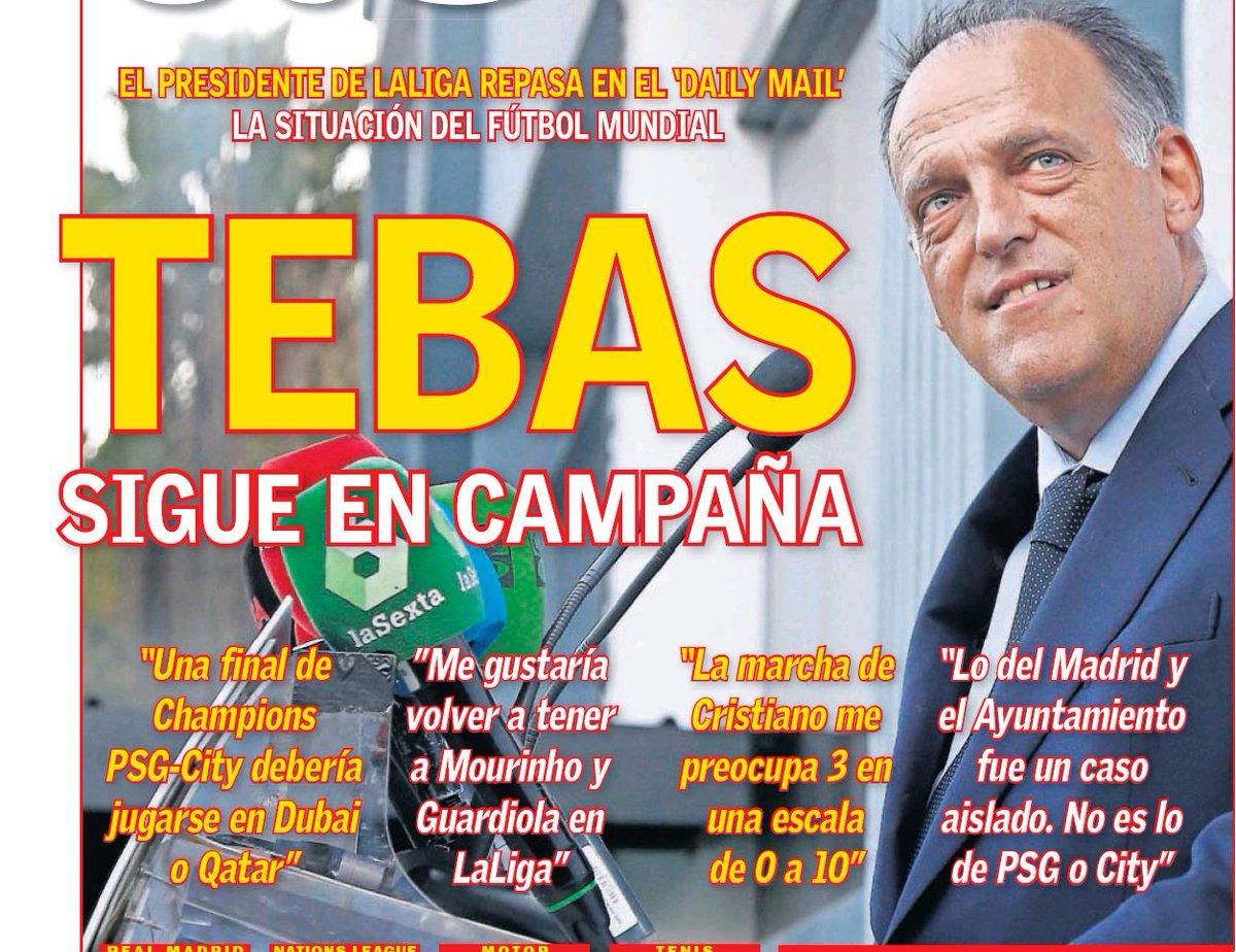 Javier Tebas qui déclare qu\