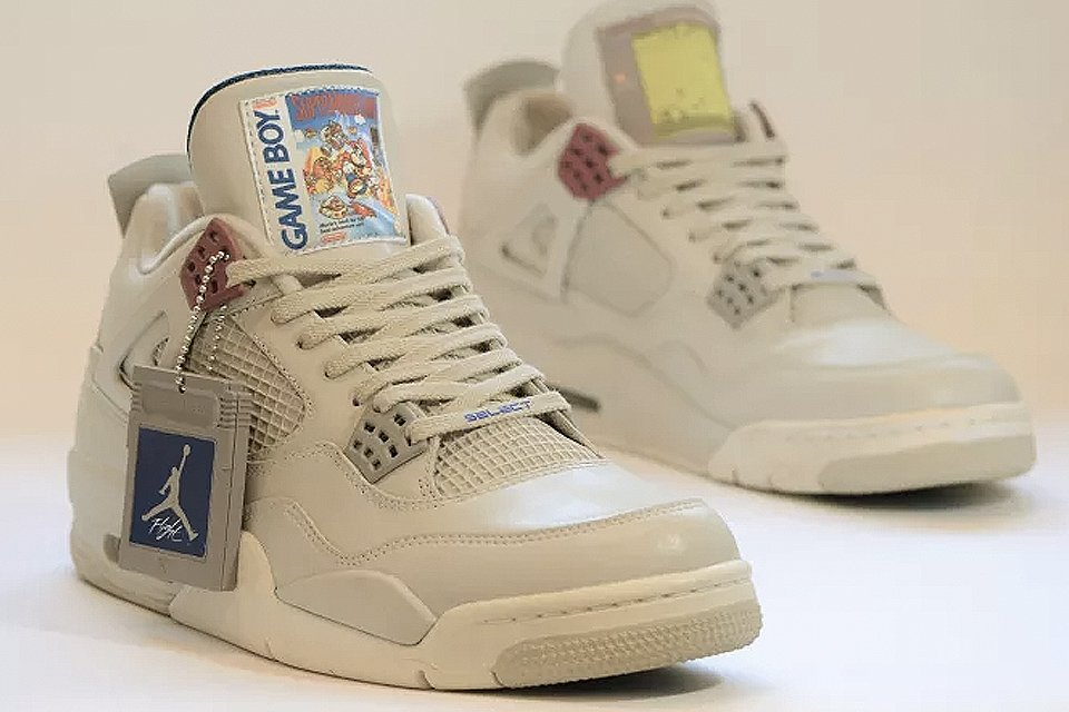 ca724793d8ef check out these dope game boy themed air jordan ivs