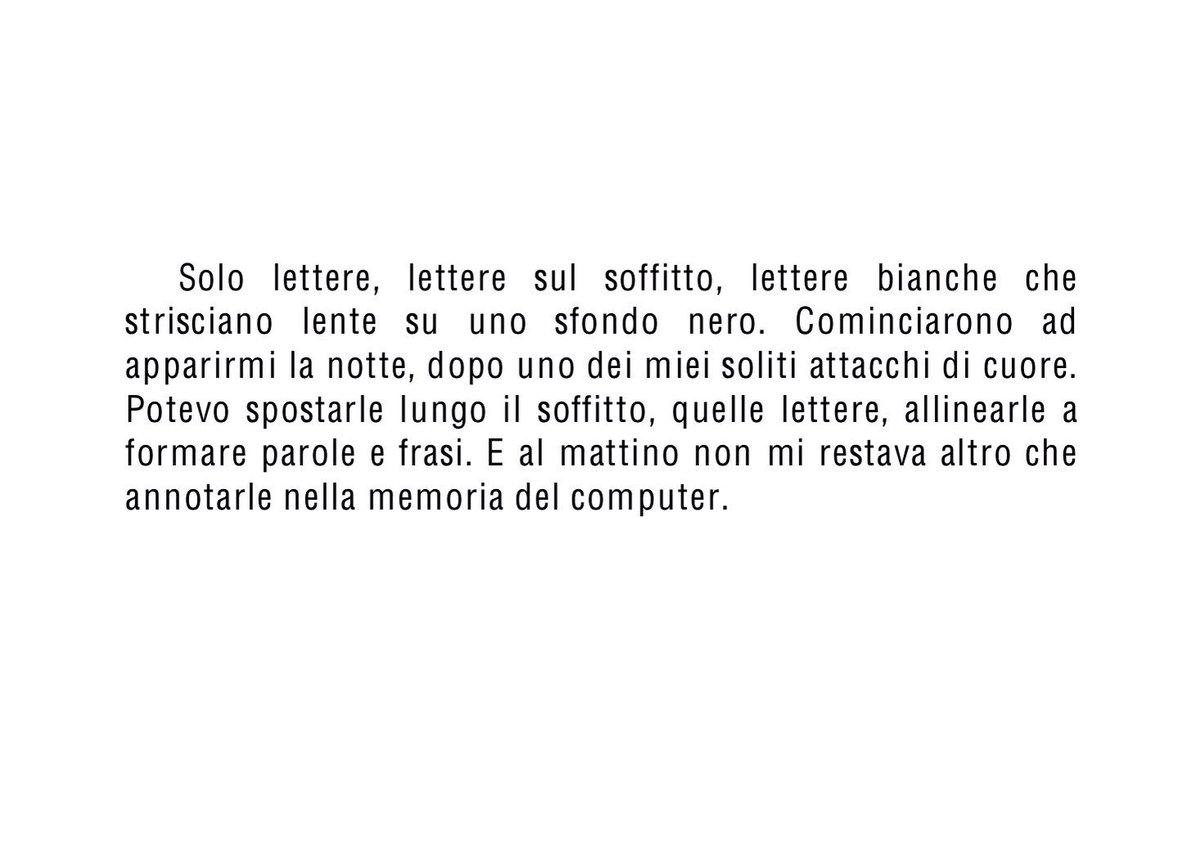 δ On Twitter Solo Lettere Lettere Sul Soffitto Lettere Bianche