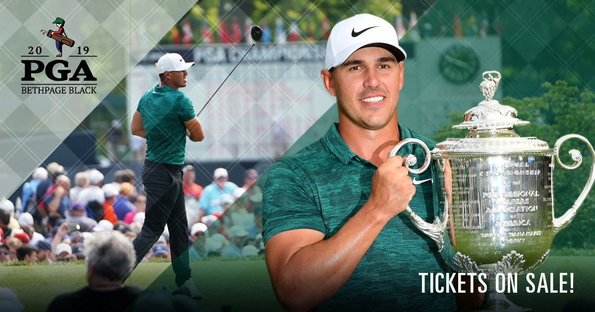 How quick will they go? Jump on them while you can! RT @PGAChampionship: Tickets for the 2019 #PGAChamp are OPEN to the public!  Get yours today    https:// bit.ly/2CzXooo  &nbsp;  <br>http://pic.twitter.com/urxgvEJb6O