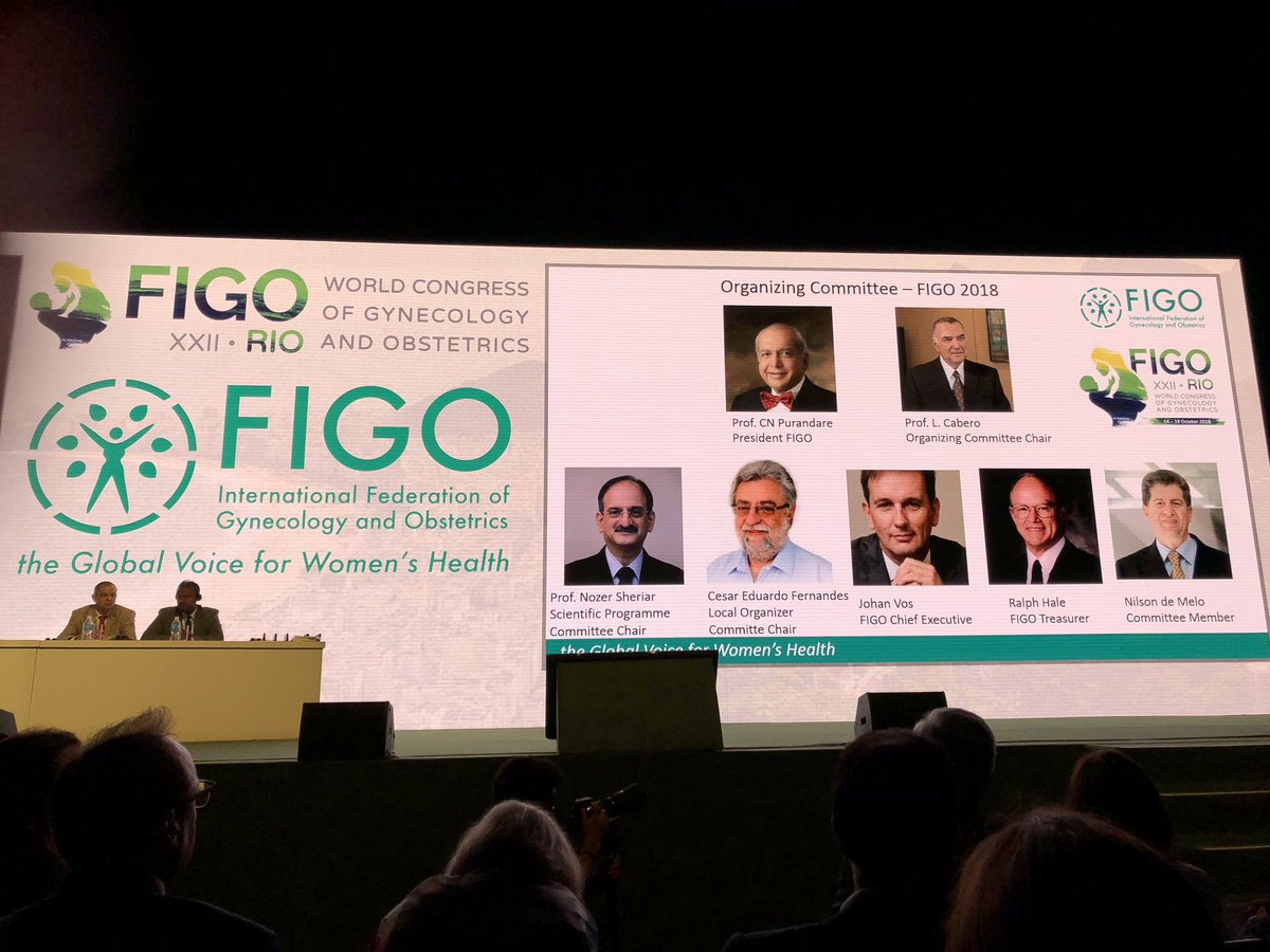 Love the slogan of #FIGO2018 : 'The Global Voice for Women's Health'. But am very puzzled that the whole org committee and all the @figo representatives on the opening panel are men. There are more female OB/GYNs than ever, women deliver and #EveryWomanMatters 🤔 #manels https://t.co/7MH9A2BvS4
