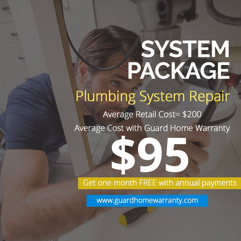 Guardhomewarranty On Twitter System Package Plumbing System Repair Average Retail Cost 200 Average Cost With Guard Home Warranty 95 Get One Month Free With Annual Payments Guardhomewarranty Repair Home Appliances Customer Refrigerators