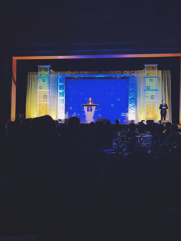 """last night, i was honored to receive the @HRC """"Visibility Award"""" & share the stage with their other honoree, Andrea Jenkins - who made history as the first openly transgender black woman elected to public office in america. what a legend.  such an incredible night. 🌟"""