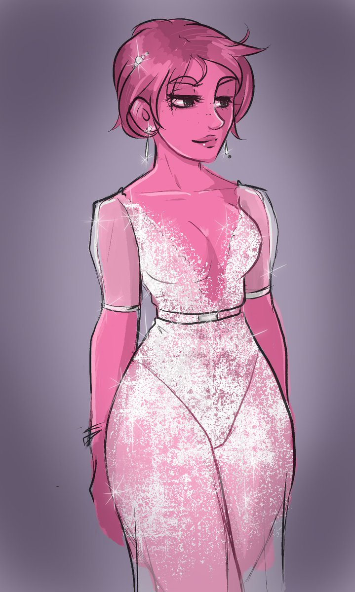 quick doodle of Perse in a Inbal Dror Bridal Fall 2019 wedding dress... #loreolympus #persephone