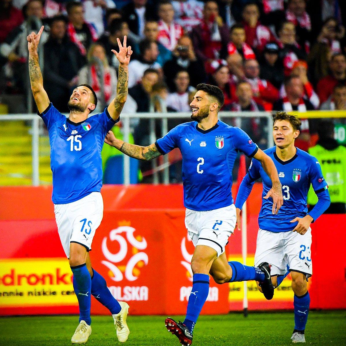 Cristiano Biraghi celebrated scoring Italy's winning goal with a tribute to former Fiorentina captain Davide Astori 1️⃣3️⃣💜