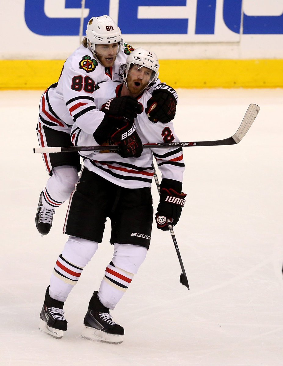 Congrats @DuncanKeith on 1k games last night. You are a special breed and a beauty on and off the ice. #DK1K