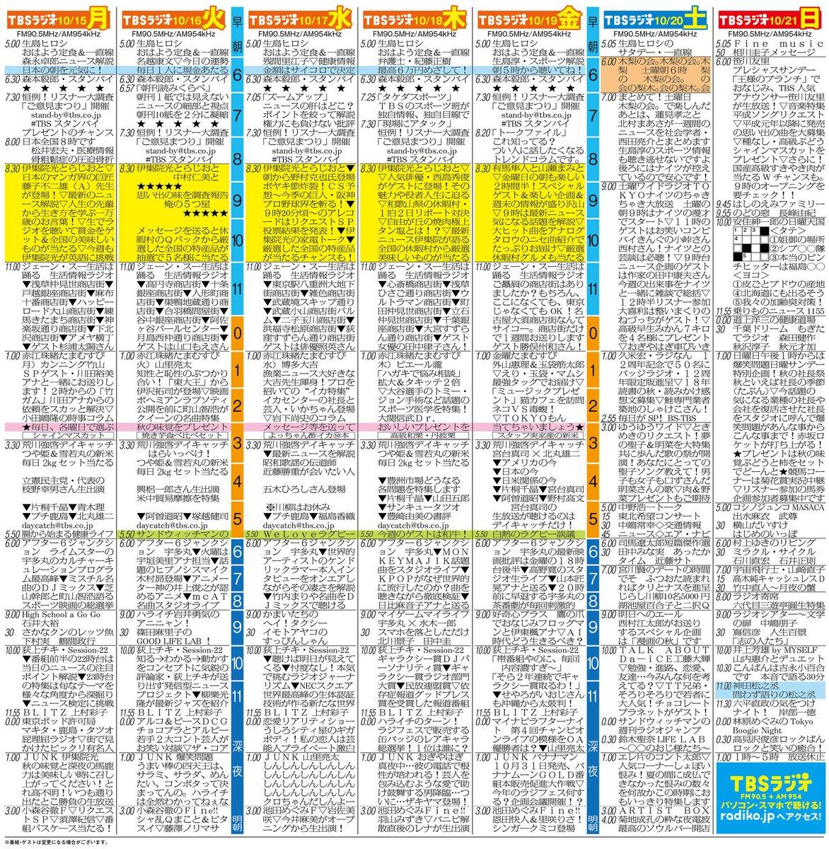 "TBSラジオ FM90.5&AM954 على تويتر: ""スペシャルウィーク開催中 ..."