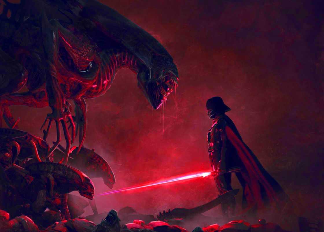 Darth Vader Alien Queen