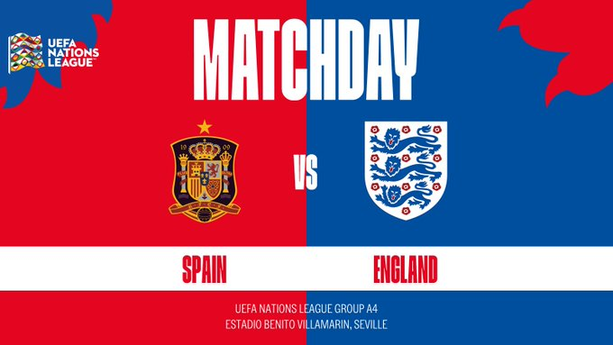 The #ThreeLions are back in action tonight: 🆚 Spain 🏆 #NationsLeague ⏰ BST 🏟 @RealBetis 📺 @SkySports Foto