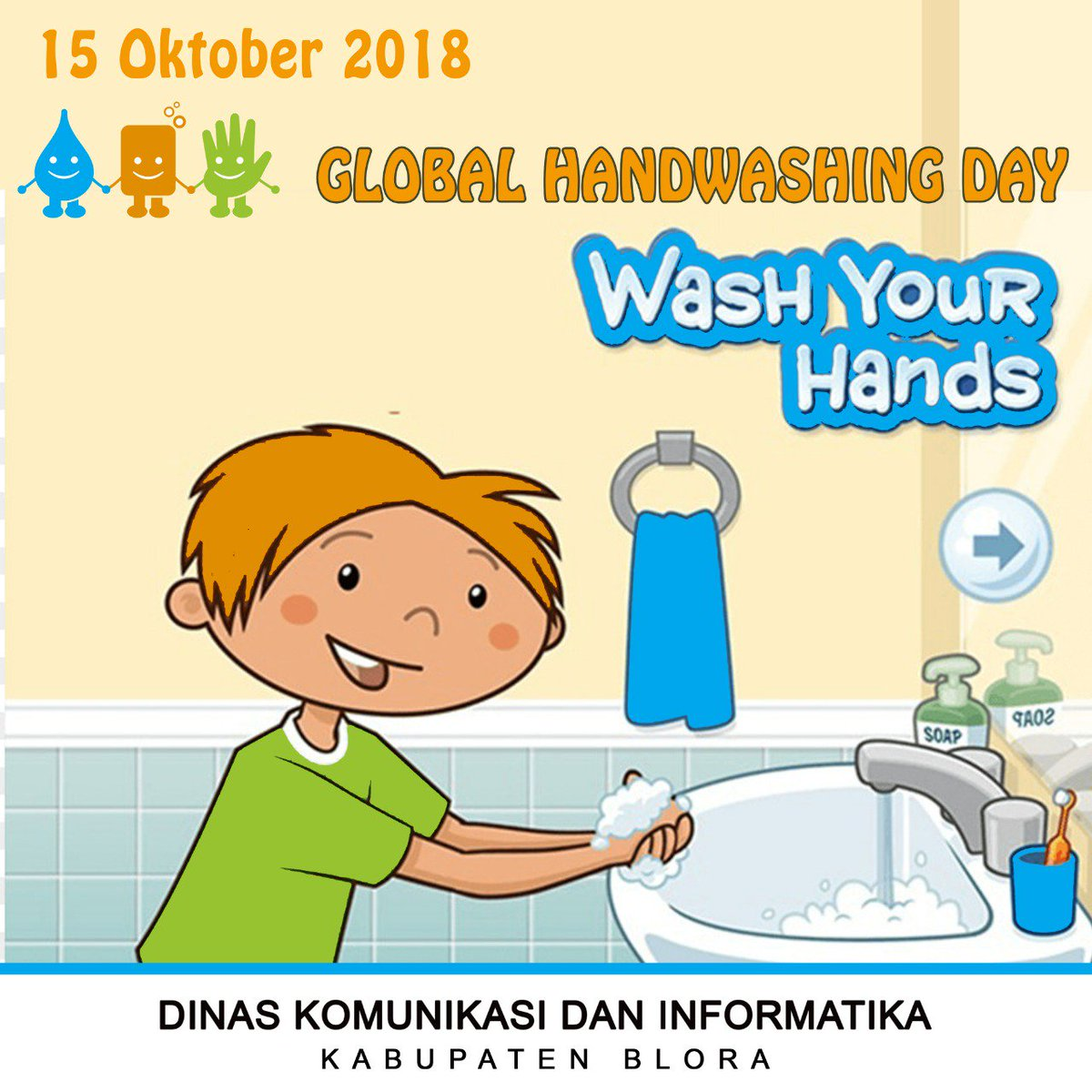 Dinkominfo Kab Blora On Twitter 15 Oktober Global Handwashing