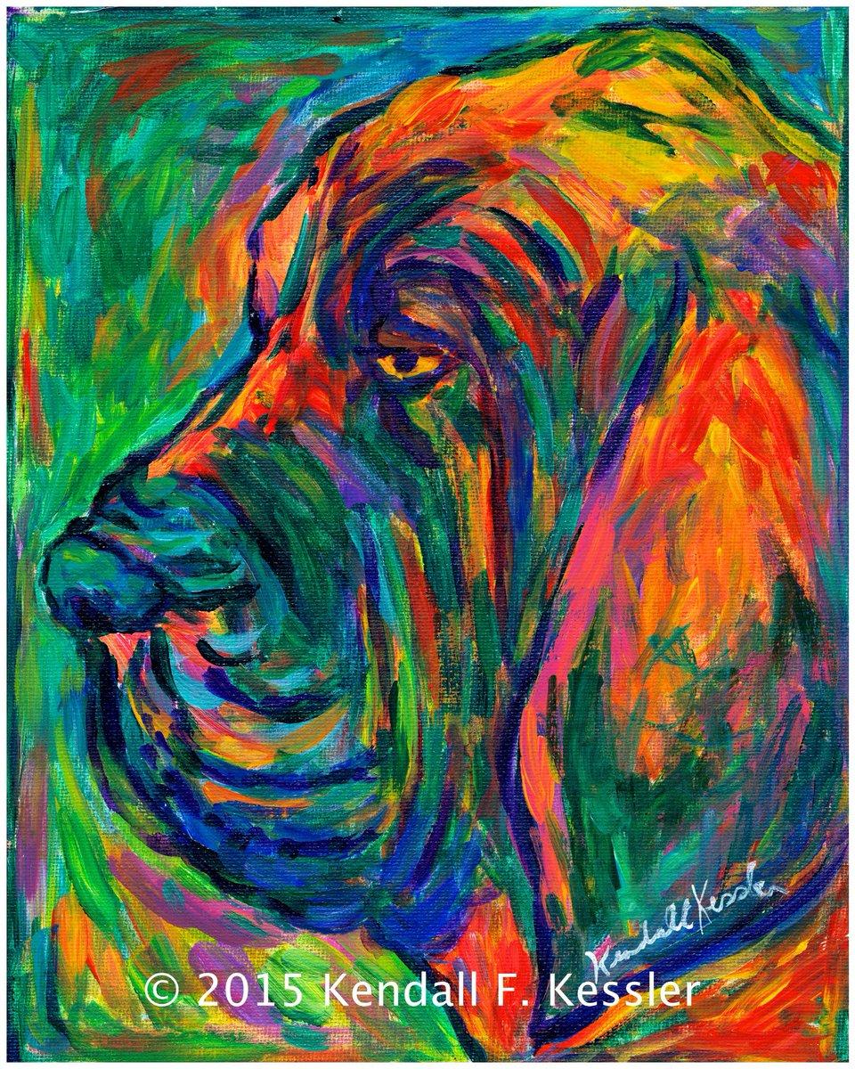 Please share this vibrant Bloodhound on my new website in progress!  Click on this link to get a better look!  https:// kkesslerart.wixsite.com/website/blank- 1/bloodhound &nbsp; …  #bloodhoundexpressivecolorfulacrylicpaintingforsale #expressionistdogcolorfulacrylicpaintingforsale<br>http://pic.twitter.com/2WAARKGlZC