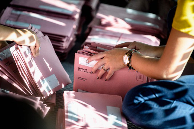 En Bavière, camouflet électoral historique pour les alliés de Merkel Fotoğraf