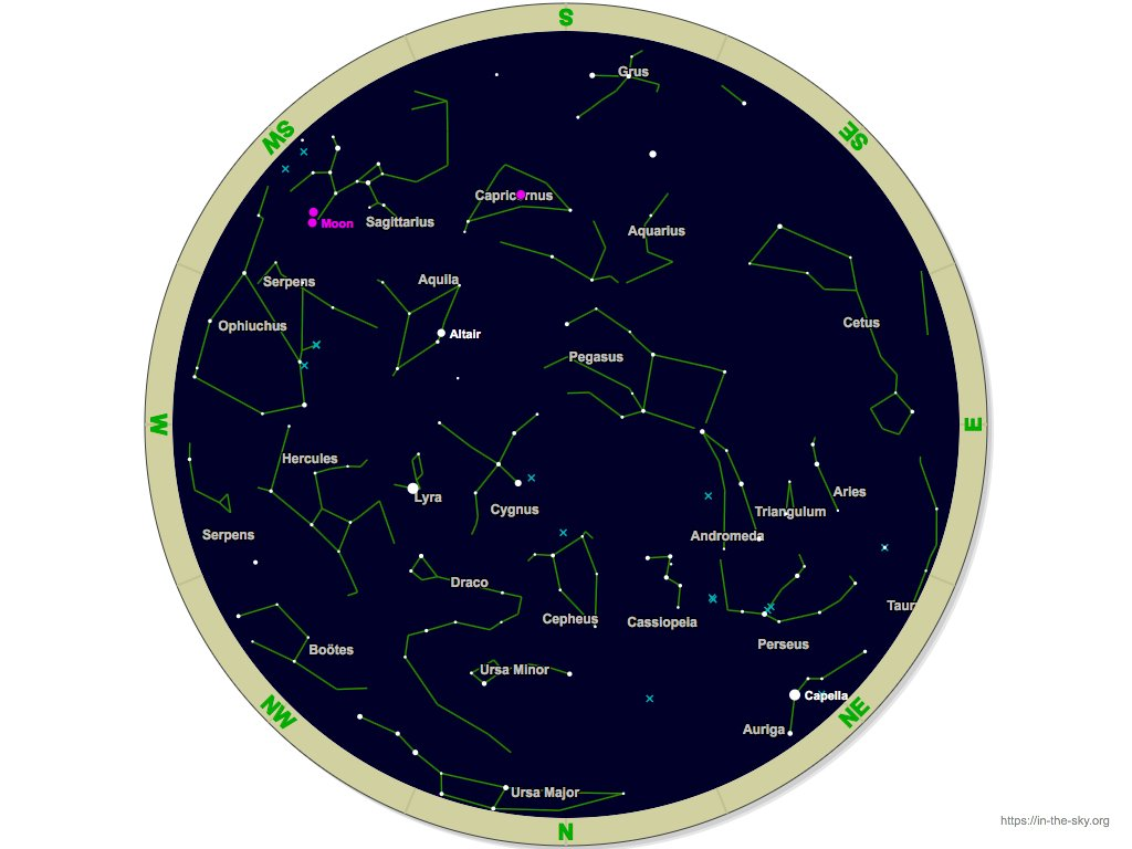 Current Star Map Over 33rd Parallel Tweet Added By Fatty S Beer