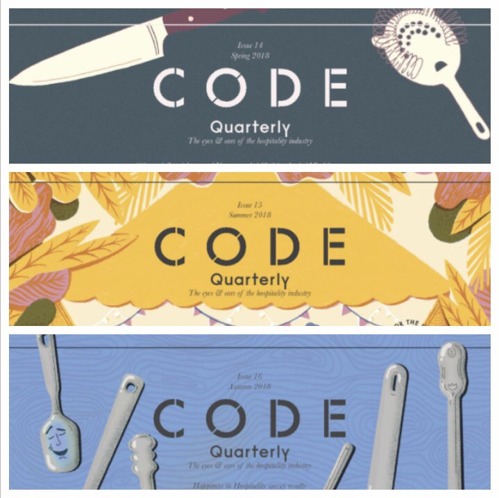 If you like reading about chefs, restaurants, food and all that business, look out for big news today  from @CODEHospitality (in the Monday bulletin which is, of course, essential reading itself)