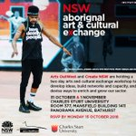 INVITATION | @Create_NSW and @artsoutwest are hosting the inaugural NSW Aboriginal Arts and Cultural Exchange at Bathurst from 31 October to 2 November in the lead-up to #ArtstateBathurst. Applications/bursaries close TONIGHT → https://t.co/IZTWZSD6qs @CSUMedia