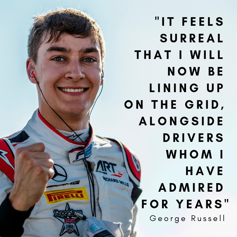 George Russell will make his race debut with Williams next season, taking Lance Stroll's seat. 👏 All the best to him and looking forward to having him at the #SingaporeGP! 🇸🇬 👋| #F1 | #Formula1|